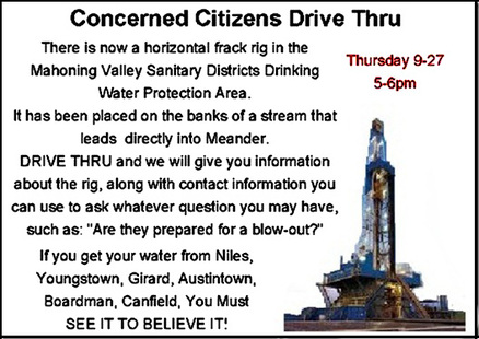 Mahoning County, Ohio, Fracking Rig Drive-through Held By Concerned Citizens of Mahoning Watershed