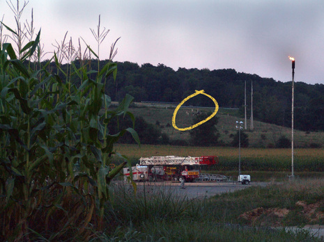 fracking natural gas well near home