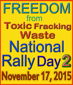 Freedom From Tioxic Fracking Waste National Rally Day