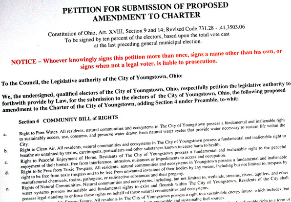 Youngstown, Ohio, Fracking Ban Ballot measure